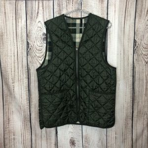 Barbour Green Quilted Puffer Vest Medium